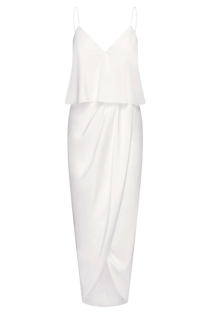 LUXE COCKTAIL FRILL DRESS - IVORY
