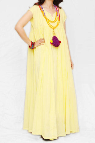 Yellow Tassel Kaftan
