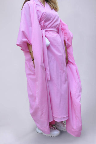 A9: Bisht with Wrap Dress