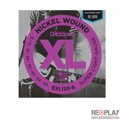 D'Addario EXL120-8 Nickel Wound 8-String (Super Light)