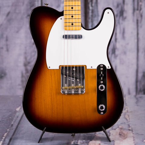 Fender Vintera '50s Telecaster Electric Guitar, 2-Color Sunburst, front closeup