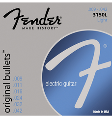 Fender 3150L Original 150 Pure Nickel Bullet-End Electric Guitar Strings - Light