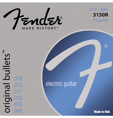 Fender 3150R Original Bullets Pure Nickel Wound Electric Guitar Strings - Regular