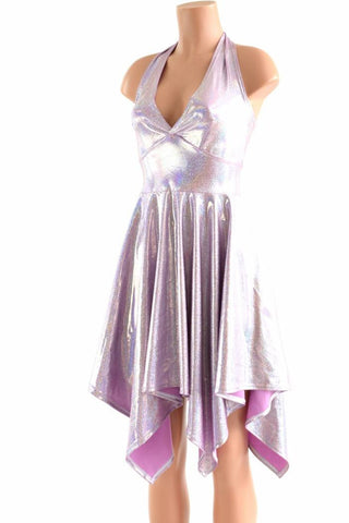 Lilac Purple Pixie Hemline Fairy Dress - Coquetry Clothing