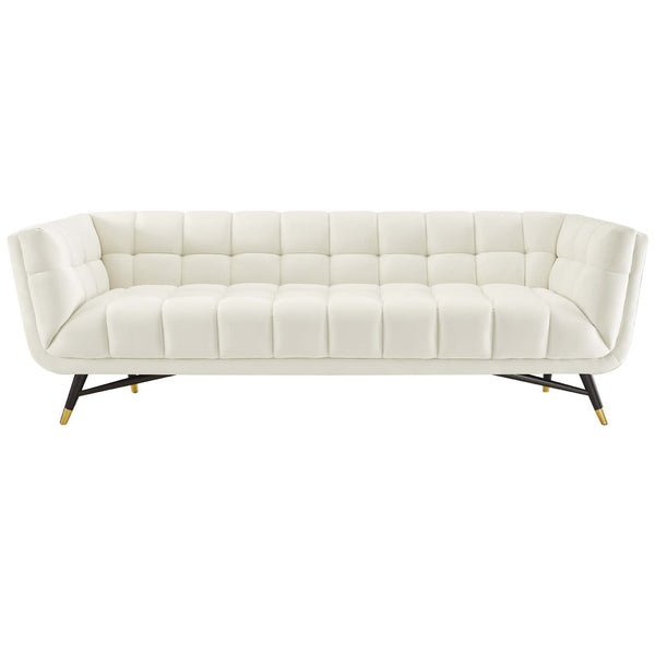ADEPT UPHOLSTERED VELVET SOFA IN MANY COLORS