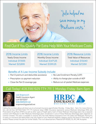 Find Out If You Qualify For Extra Help With Your Medicare Costs - LIS Flyer