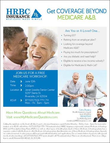 Get Coverage Beyond Medicare A&B - Flyer