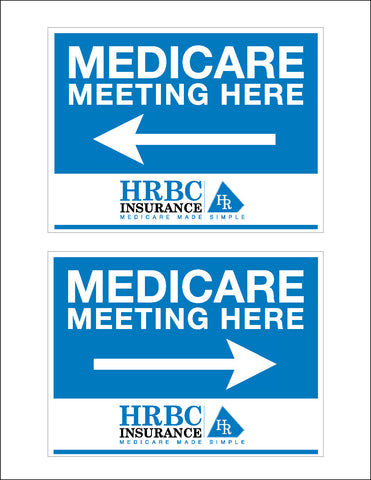 Medicare Meeting Event Signs