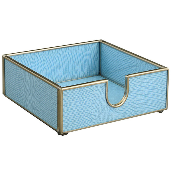 blue lizard skin cocktail napkin holder