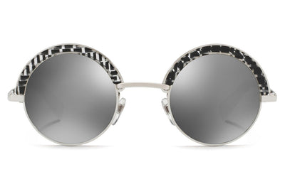 Alain Mikli - A04003 Sunglasses Shiny Silver/Crystal Black