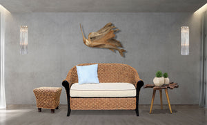 Water Hyacinth Soldano Love Seat - La Place USA Furniture Outlet