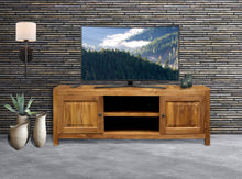 Waxed Teak Wood Santa Barbara Media Center - La Place USA Furniture Outlet