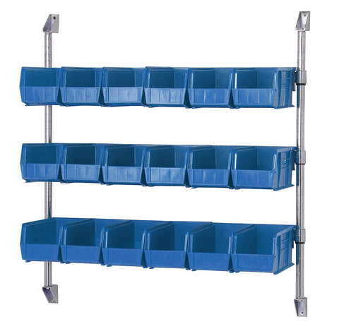 "36"" X 34"" Wall Mount Cantilever System with Bin Holders - Shelving Smart - 1"