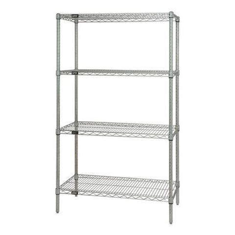 "54""H Chrome 4 Shelf Wire Shelving Starter Kit - Shelving Smart - 1"
