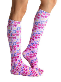 Living Royal Photo Print Knee High Socks: Dancer Emoji