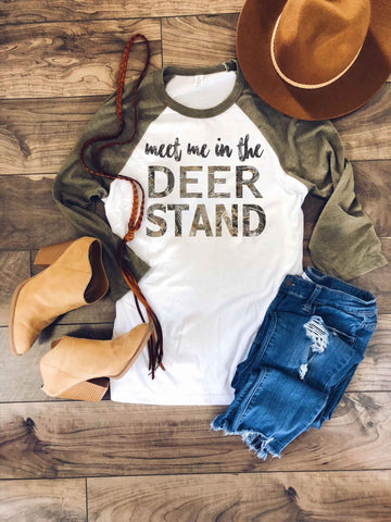Meet me in the Deer Stand long sleeve tee