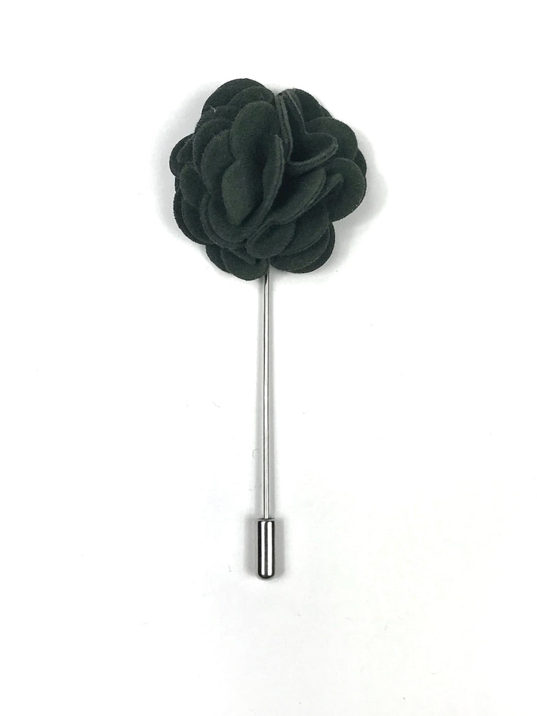 Dark Green Flower Lapel Pin