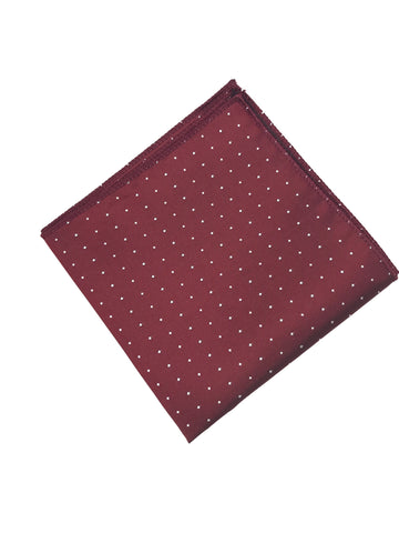 Red and White Polka Dot Pocket Square