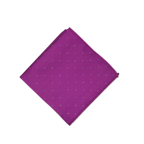 Magenta Polka Dot Pocket Square