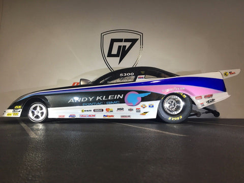 CUSTOM TRAXXAS 1/8 SCALE FORD MUSTANG FUNNY CAR. BODY SHELL ONLY. REPLICA BODY