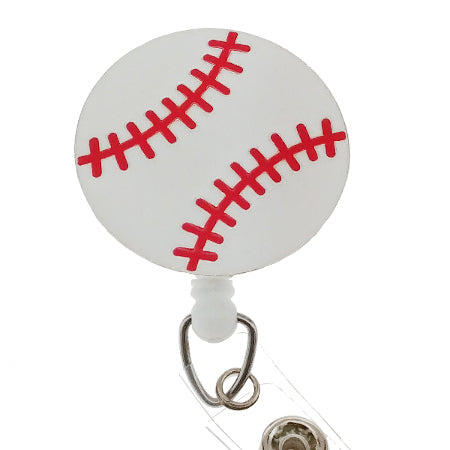 Baseball ID Badge Reel - SassyBadge