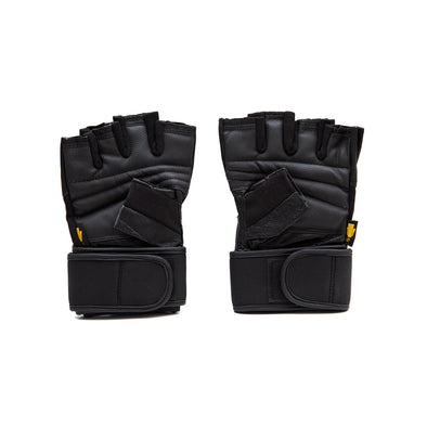 ELITE WRIST WRAP WORKOUT GLOVES - RUBBER EDITION