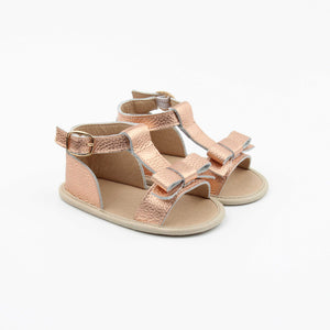 Maggie Sandal in rose gold (soft sole) - Sadie Baby