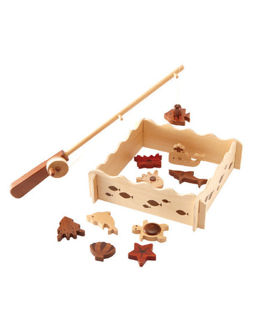 TC9003 | Fishing Set 15 pcs (Red Wood)