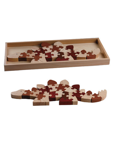 TC5003 | Stegosaurus Puzzle (Red Wood Puzzle Series)