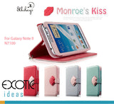 8thDays Monroe's Kisses Series- Samsung Galaxy Note II, N7100 Case Skin -  with Cover, Stand Feature