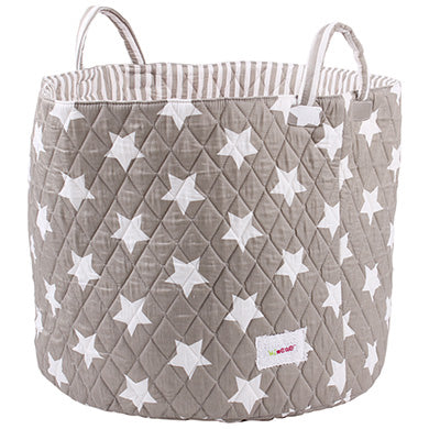 Grey star storage basket