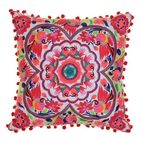 Acapulco embroidered cushion