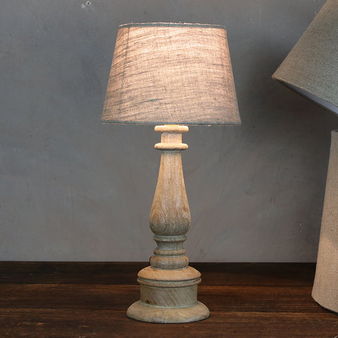 Mango wood lamp - natural
