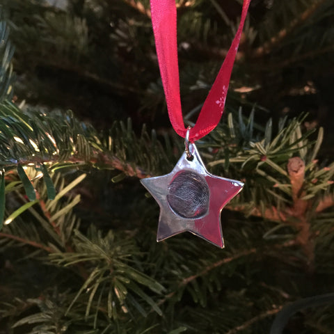 Fingerprint Christmas Star Decoration