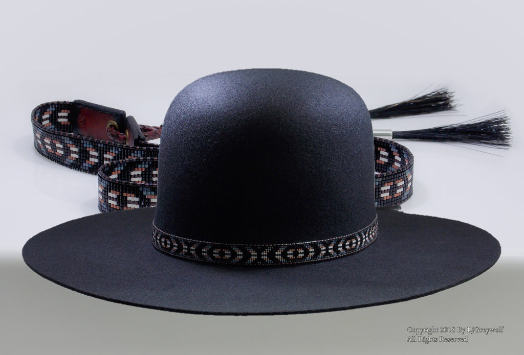 Cherokee Beaded Rustic Eye of the Medicine Man Hat Band