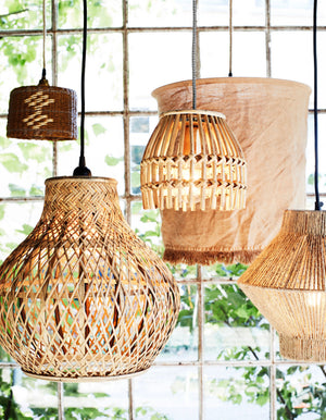 Rattan and Jute Pendant Shades