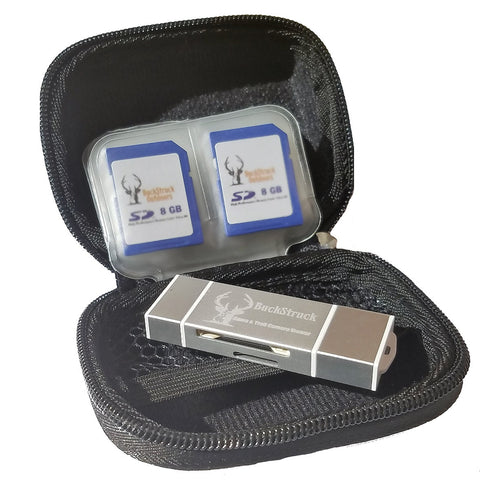 BuckStruck Hard Shell Storage Case for Trail Camera Card Reader and SD Cards - includes 12 pockets for SD Cards … - BuckStruck Outdoors