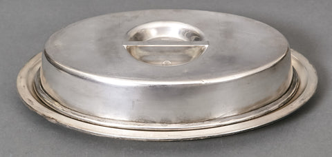 Large Silver Plated Covered Dish from the Platterhof
