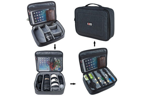 Large Capacity Camera Gear Storage Bag Organizer