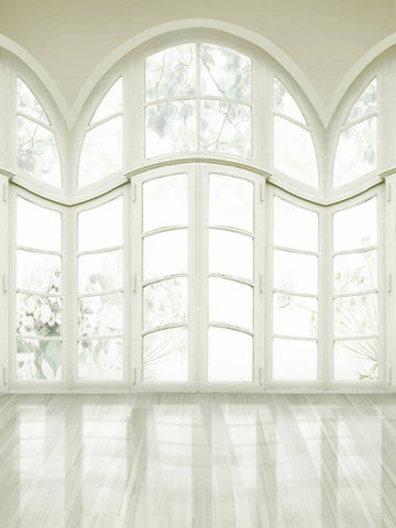 White Windows Wedding Photography Studio Backdrop (10x20 only)