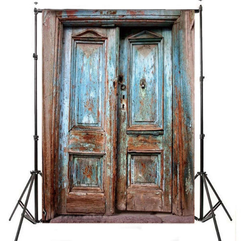 Shabby Chic Door Photography Studio Backdrop