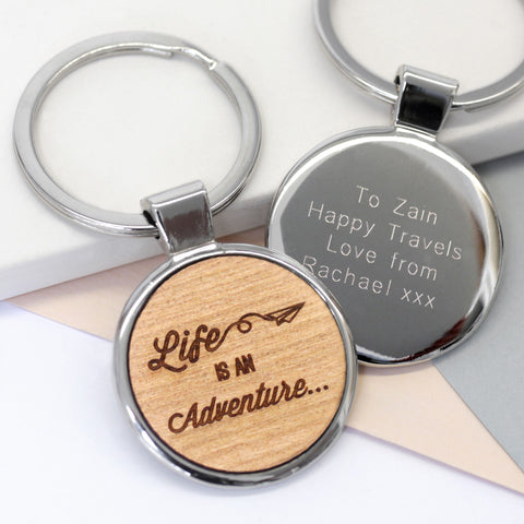 Personalised Adventure Keyring