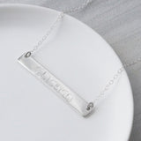 Personalised Mama Bear Bar Necklace