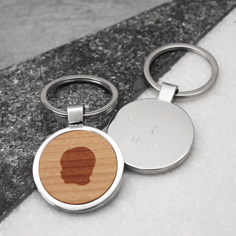 Personalised Portrait Keyring
