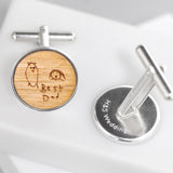 Personalised Child's Drawing Cufflinks