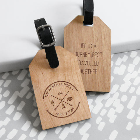 Personalised Adventures Of Luggage Tag