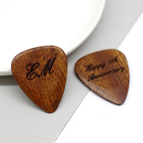 Personalised Wooden Initial Plectrum