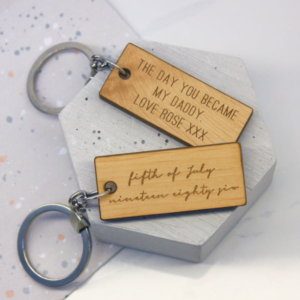 Personalised Written Date Keyring