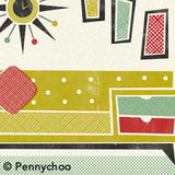 'Sofa of Birthday Bliss' Midcentury Styled Birthday Card