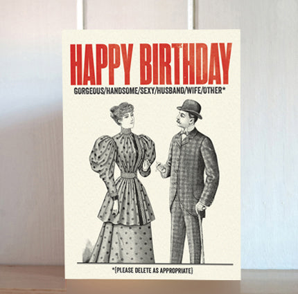 Modern Life is Rubbish: Delete As Appropriate Birthday Card